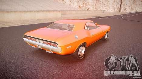 Dodge Challenger v1.0 1970 для GTA 4 вид сверху