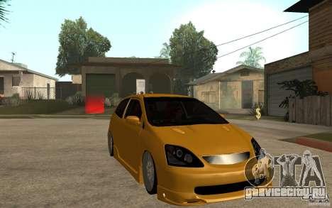 Honda Civic Type-R EP3 для GTA San Andreas вид сзади