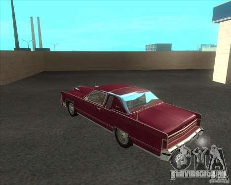 Lincoln Continental Town Coupe 1979 для GTA San Andreas вид сзади слева