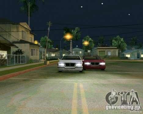 Elegant Limo для GTA San Andreas вид изнутри
