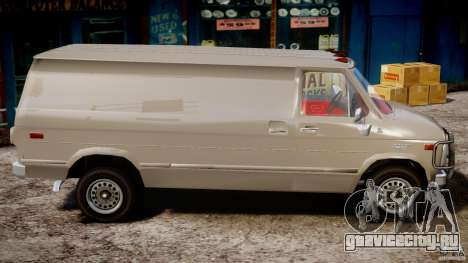 Chevrolet G20 Vans V1.1 для GTA 4 вид сзади
