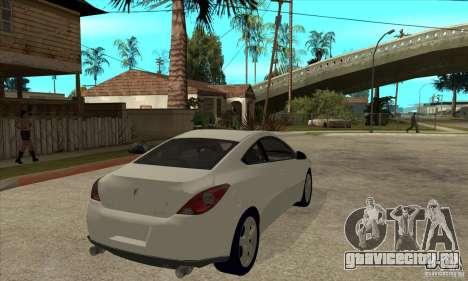 Pontiac G6 Stock Version для GTA San Andreas вид справа