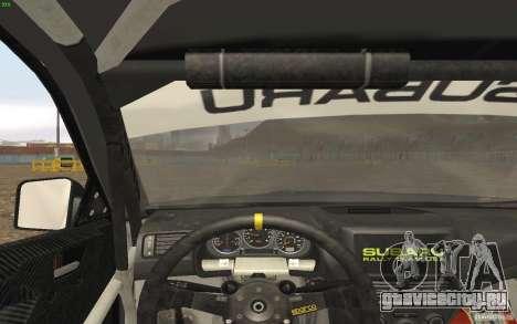 Subaru Impreza WRX Gymkhana2 Beta для GTA San Andreas вид сзади