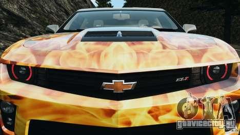 Chevrolet Camaro ZL1 2012 v1.0 Flames для GTA 4