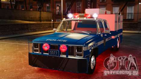 GMC C3500 NYPD ESU для GTA 4 вид сзади