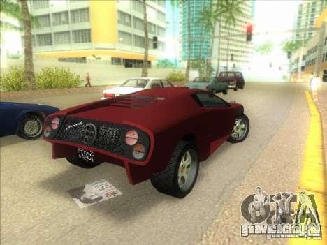 Infernus из GTA IV для GTA Vice City вид сзади слева
