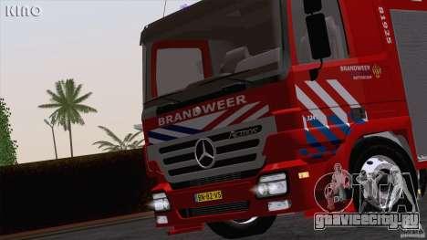 Mercedes-Benz Actros Fire Truck для GTA San Andreas вид сзади