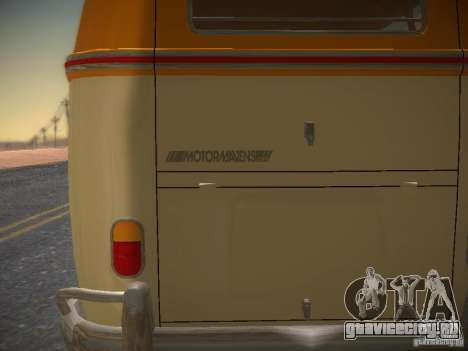 Volkswagen Type 2 Custom для GTA San Andreas вид сбоку