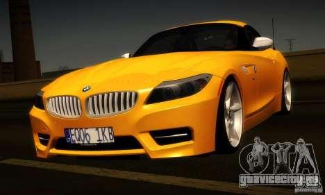BMW Z4 Stock 2010 для GTA San Andreas вид сзади