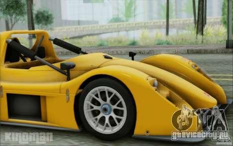 Radical SR3 RS 2009 для GTA San Andreas вид сзади