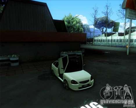 ВАЗ 2172 PRIORA для GTA San Andreas вид сзади слева