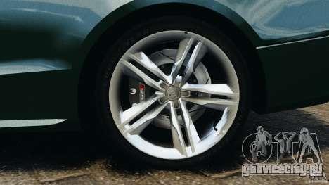 Audi S5 для GTA 4 вид снизу