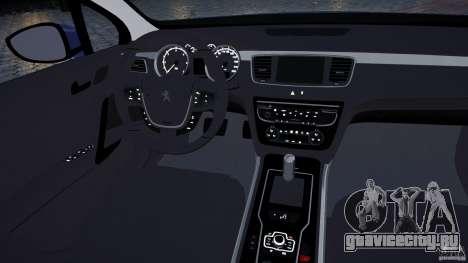Peugeot 508 Final для GTA 4 вид сбоку