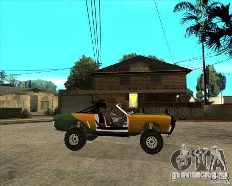 Ford Mustang Sandroadster для GTA San Andreas вид справа