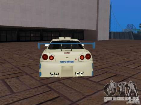 Nissan Skyline GT-R R34 Tunable для GTA San Andreas вид снизу