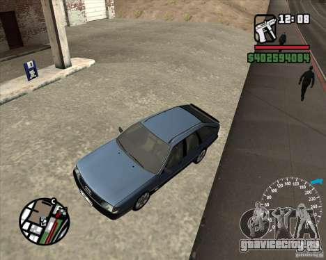 Audi 100 Avant для GTA San Andreas вид изнутри