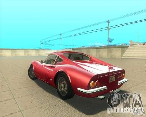 Ferrari Dino 246 GT для GTA San Andreas вид слева