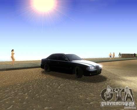 BMW 525i e39 для GTA San Andreas вид слева