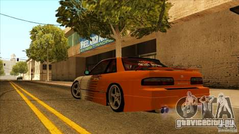 Nissan Silvia S13 MyGame Drift Team для GTA San Andreas вид сзади