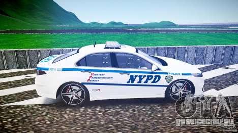 Honda Accord Type R NYPD (City Patrol 2322) ELS для GTA 4 вид слева