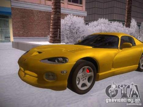 Dodge Viper 1996 для GTA San Andreas вид сзади слева