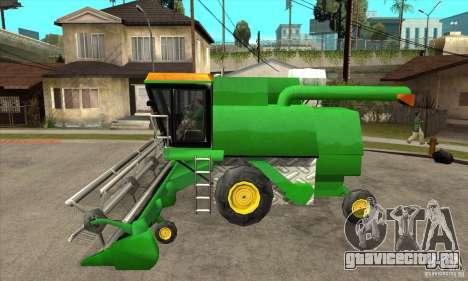 Combine Harvester Retextured для GTA San Andreas вид слева