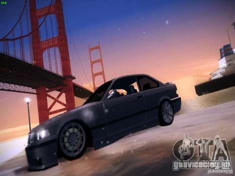 BMW M3 E36 320i Tunable для GTA San Andreas вид сзади слева