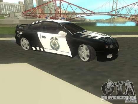 Pontiac GTO Police для GTA San Andreas вид слева