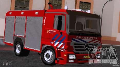 Mercedes-Benz Actros Fire Truck для GTA San Andreas вид слева