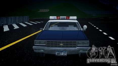 Chevrolet Impala Police 1983 v2.0 для GTA 4 вид снизу
