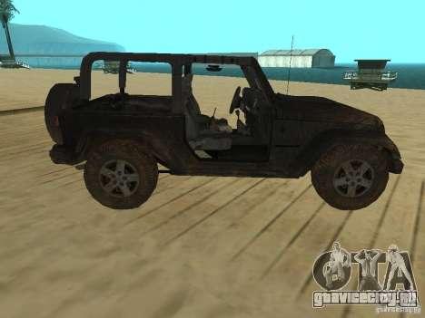 Jeep Wrangler SE для GTA San Andreas вид слева