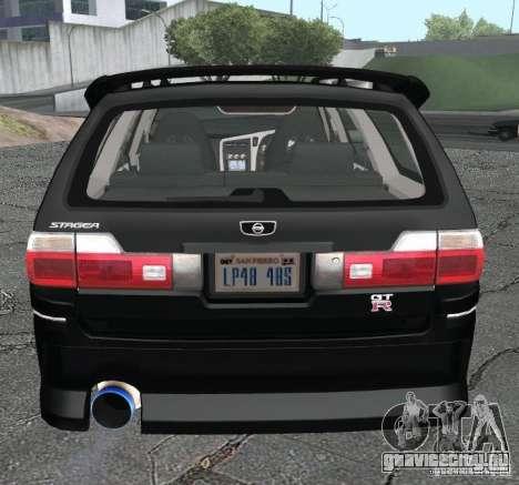 Nissan Stagea для GTA San Andreas вид сзади слева