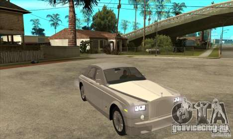 Rolls Royce Coupe 2009 для GTA San Andreas вид сзади