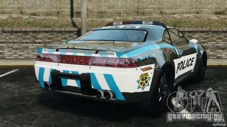 NFSOL State Police Car [ELS] для GTA 4 вид сзади слева