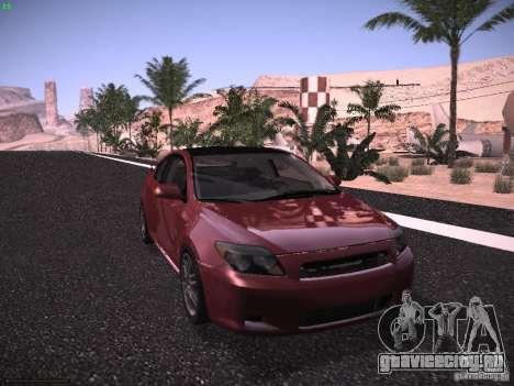 Scion tC для GTA San Andreas вид сзади слева