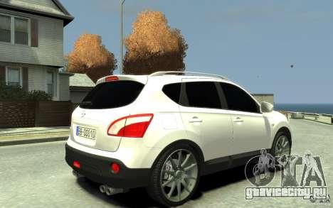 Nissan Qashqai 2010 для GTA 4 вид справа