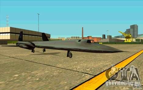 SR-71A BLACKBIRD BETA для GTA San Andreas вид справа
