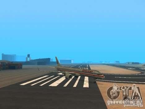 Boeing 757-200 American Airlines для GTA San Andreas вид слева