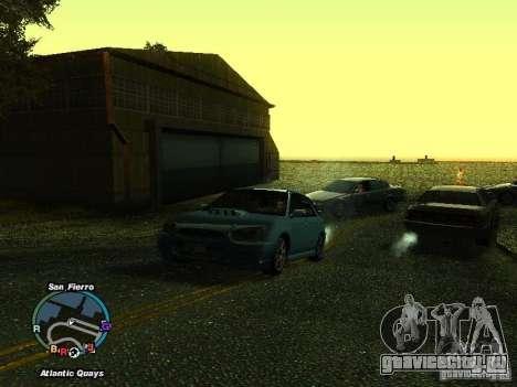 Subaru Impreza Wagon 2004 - 2002 для GTA San Andreas вид сзади слева