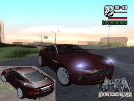 Aston Martin Vanquish для GTA San Andreas
