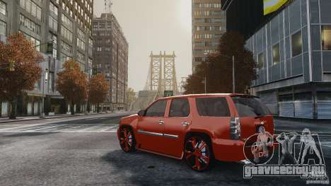 Chevrolet Tahoe tuning для GTA 4 вид слева