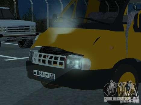 ГАЗель такси для GTA San Andreas вид сзади
