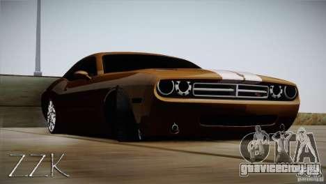 Dodge Challenger Socado Com Rotiform FIXA для GTA San Andreas вид сзади слева