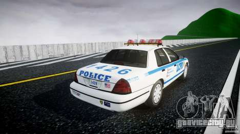 Ford Crown Victoria Police Department 2008 LCPD для GTA 4 вид изнутри