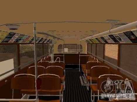 Ikarus 60 для GTA San Andreas вид изнутри