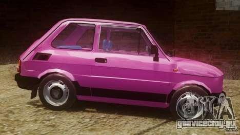 Fiat 126p FL Polski 1994 Wheels 1 для GTA 4 вид слева