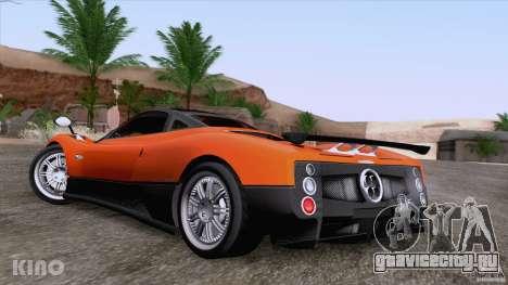 Pagani Zonda F для GTA San Andreas вид снизу