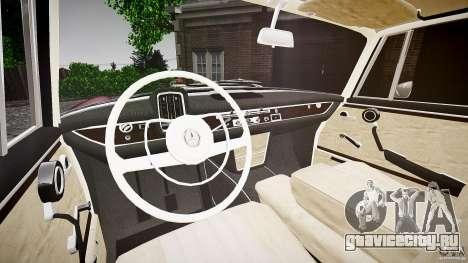 Mercedes Benz W111 Final для GTA 4 вид сзади