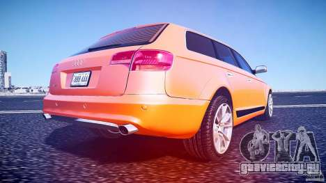 Audi A6 Allroad Quattro 2007 wheel 2 для GTA 4 вид снизу