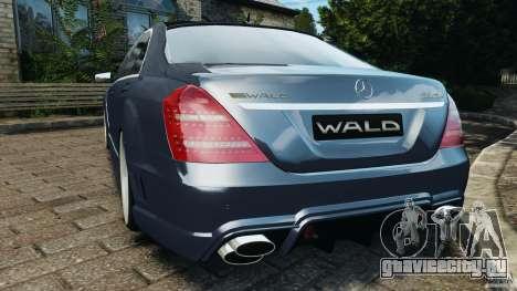 Mercedes-Benz S W221 Wald Black Bison Edition для GTA 4 вид сзади слева